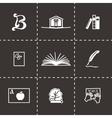 Book icon set vector