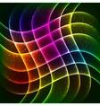 Neon rainbow waves background vector