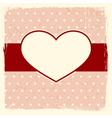 Grunge background with heart frame vector