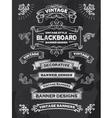 Retro banner and ribbon blackboard design set vector