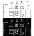 Icons of household appliances vector