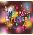 Happy birthday card 13 vector