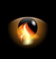 Eye and flame vector