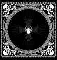 Bandana pattern skull and spider vector