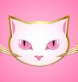 White cat head vector