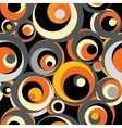 Orange retro pattern of circles vector