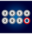 Happy new year 2015 - in plastic circles vector