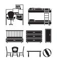 Children furniture vector