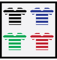 Color navy t-shirts collection eps10 vector
