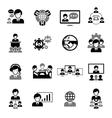 Business meeting icons black vector