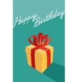 Birthday cartoon gift box happy birthday card vector
