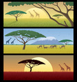 Africa landscapes vector