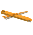 Wood chopsticks vector