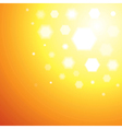 Abstract orange sun light background vector