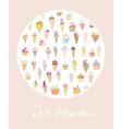 Ice cream cute card vector