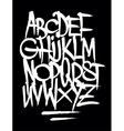 Hand style graffiti font alphabet vector