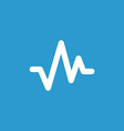 Pulse icon white on the blue background vector