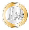 One euro coin vector