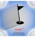 Golf flag flat modern web design on a flat vector