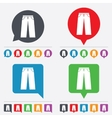 Mens jeans or pants sign icon clothing symbol vector