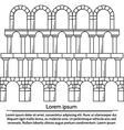Line design arch structure vector