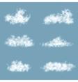 Transparency gradient clouds set vector