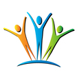 Active people unifying logo vector