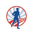 Phyiscal fitness marathon runner jogging vector