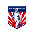 American marathon runner stars and stripes vector