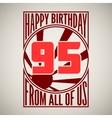 Retro poster happy birthday vector