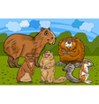 Rodents animals cartoon vector