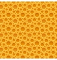 Yellow seamless plastic background with holes vector