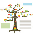 Infographic data on the tree vector