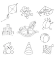 Set o outlined toys vector