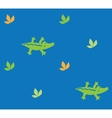 Seamless pattern with funny crocodiles vector