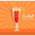 Colorful coctail background concept vector