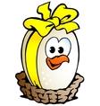 Egg ribbon basket vector