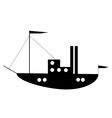 Ship button vector