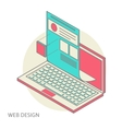 Mobile and desktop website design development vector