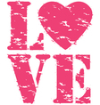 Love grunge rubber stamp vector