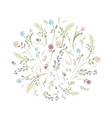 Spring floral frame for your design vector