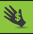 Human hand with dollar symbol concept vector