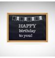 Birthday greetings on schoolboard vector