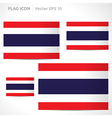 Thailand flag template vector