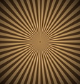 Brown radial rays abstract background vector