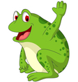 Cute frog cartoon smiling vector