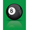 Black billiard ball vector