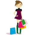 Women with some shopping bags vector