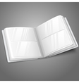 Blank white opened photo album for your messages vector