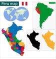 Peru map vector